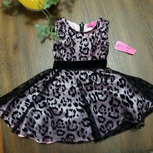 Betsey Johnson Toddler Party Dress Black/Pink NWT